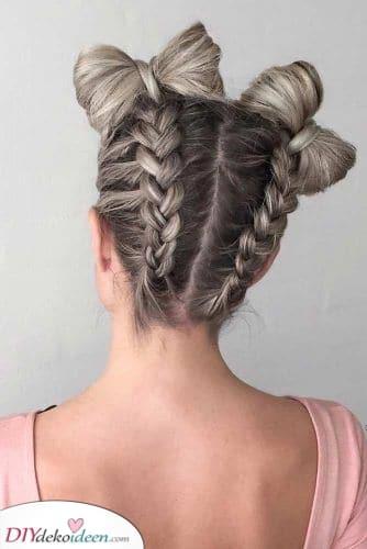 Nette Schleifenbrötchen – Lange Frisuren für Frauen