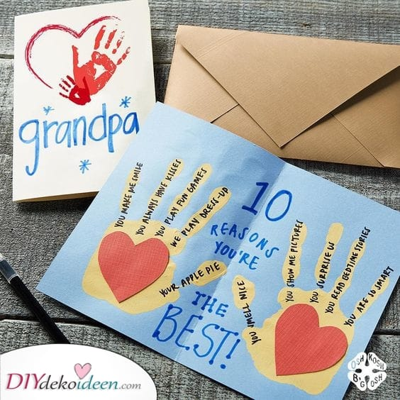 Zehn Gründe, warum Opa der Beste ist – Geburtstagsgeschenk für Opa selber basteln