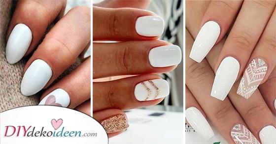 25 Schöne Ideen Für Weiße Fingernägel – Tolle Inspirationen Für Weisse Nägel