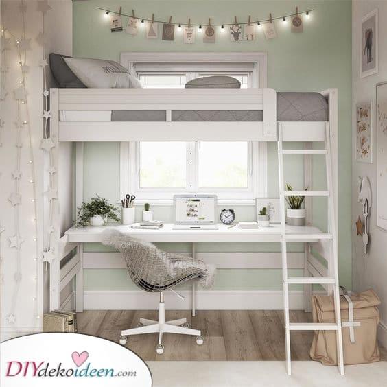 Ein süßes oberes Etagenbett – Ideen für kleine Schlafzimmer