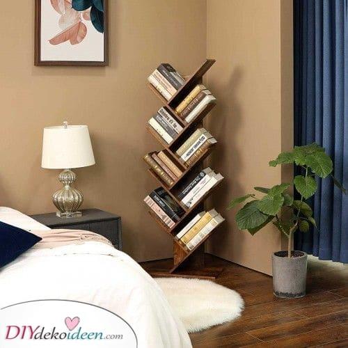 Einfach und ganz mühelos – Ideen für mehrere abgestufte Bücherregale
