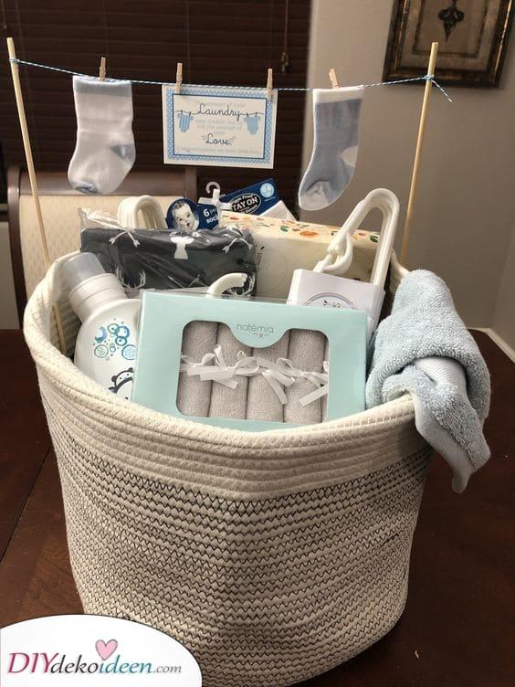 Ein Wäschekorb – Personalisierte Babygeschenke