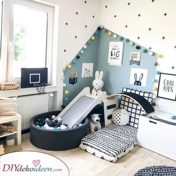 Ein Spielplatz im Inneren – Jungen Kinderzimmer