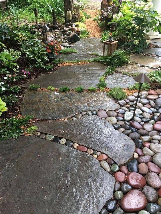 Viel Platz – Einfache Gartenweg Designs