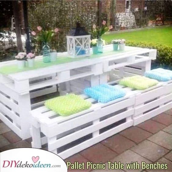 Eine romantische Umgebung – Gartenmöbel selbst bauen