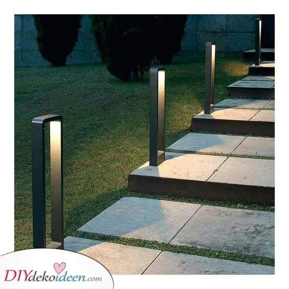 Modern und futuristisch – Moderne Gartenbeleuchtung