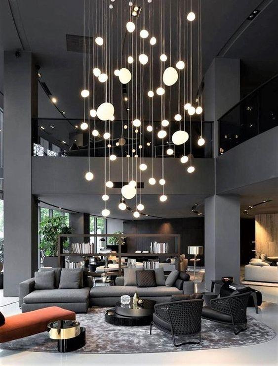Schwebende Pendelleuchten – Wohnzimmer Beleuchtung magisch und ruhig
