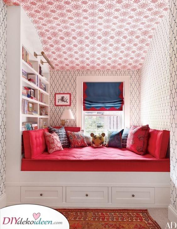 Eine Reihe von Mustern – Schlafzimmerideen für kleine Räume