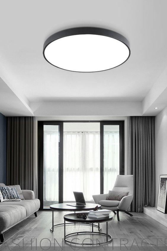 Eine kreisförmige Deckenleuchte – Modern und Schön zugleich