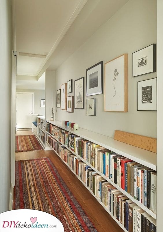 Entlang deines Hauses – Bücherregal Designs