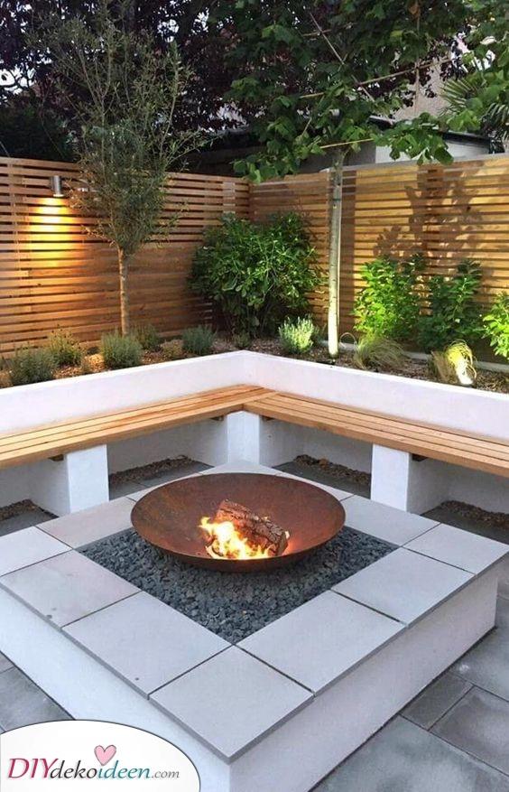 Ruhig und friedlich – Feuerschale für den Garten