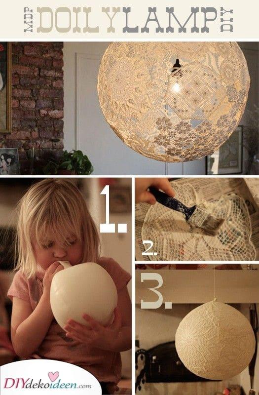 Handgemachte Schlafzimmerlampe – Schön und selbstgemacht