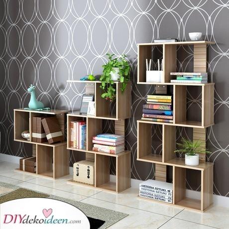 Ein Box-Loch-Bücherregal – Einfach und praktisch