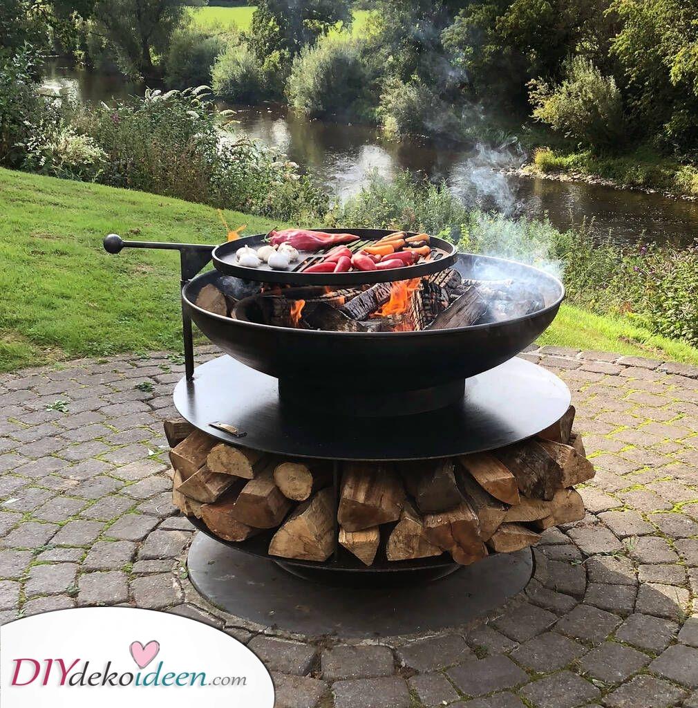 Feuerschale im Garten – ideal zum Grillen von Speisen