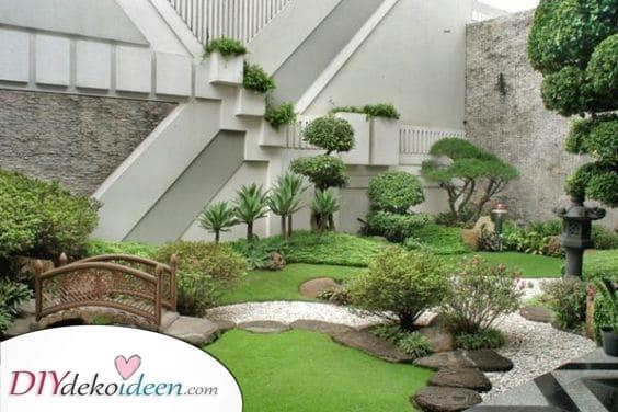 Eine japanische Atmosphäre – Ideen für kleine Gärten