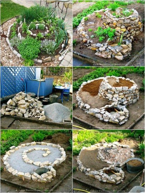 Eine spektakuläre Spirale – Schöne Garten erfordern Kreativität