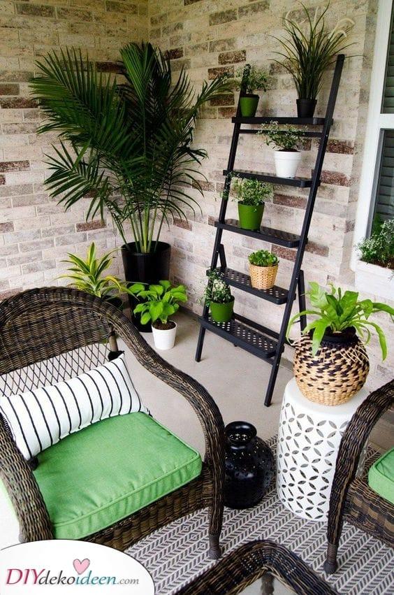 Üppiges Grün – Garten Terrassen Ideen mit kleinem Budget