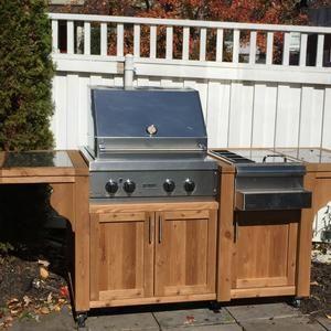 Eine bewegliche Küche – Gartengrill selber bauen
