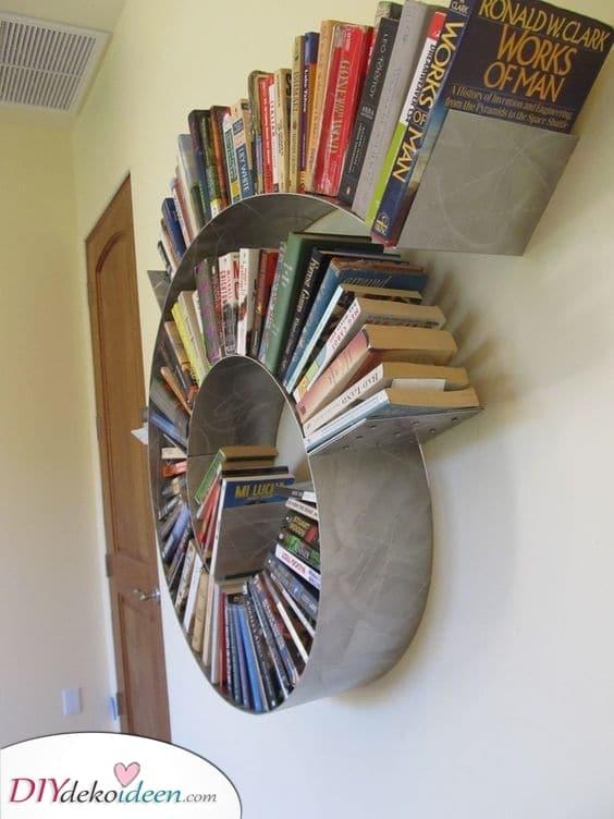 Eine große Spirale – Originelle Regal Ideen