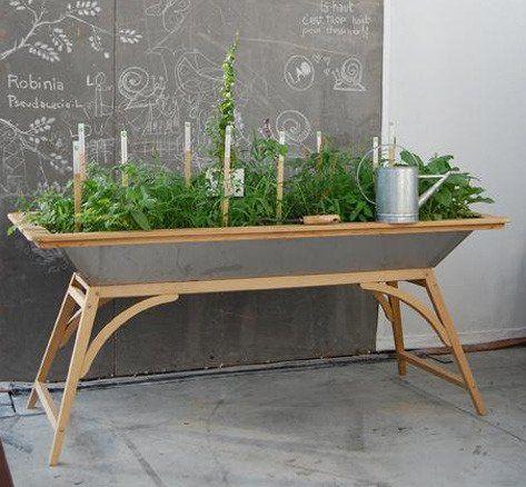 Baue einen Tisch – Eine großen Wanne