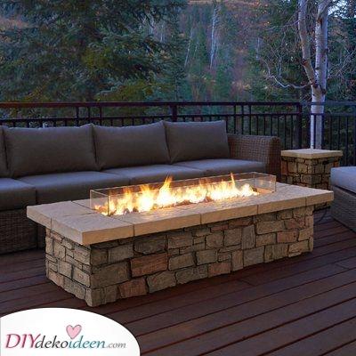 Ein Feuertisch – Elegant und raffiniert