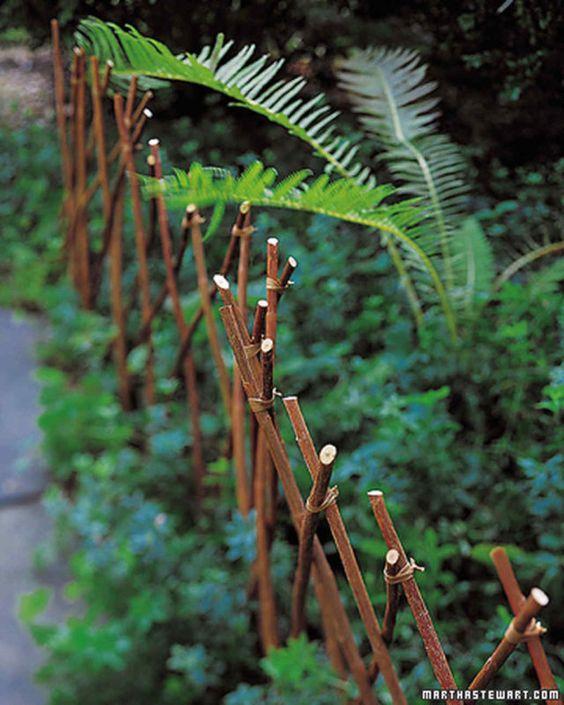 Einen Zaun bauen – Grenzideen für Gärten