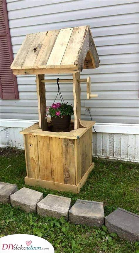 Ein Wunschbrunnen – Gartenmöbel selbst bauen