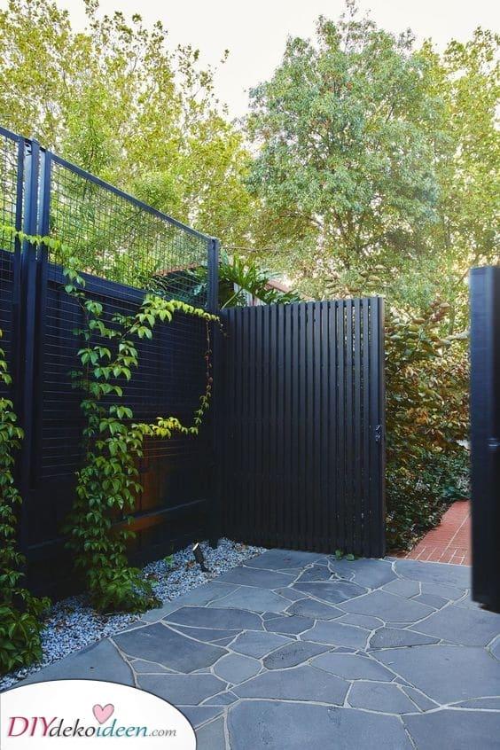 Malen Sie alles schwarz – Vorgarten Zaun Ideen