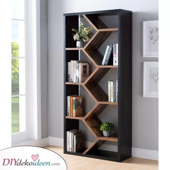 Geometrisch und modern – Erstaunliche Ideen für Bücherregale
