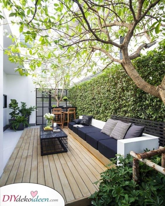 Kleingarten Ideen – Sitzgelegenheiten schaffen