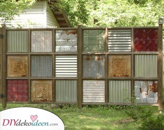 Recyceln und neu verenden – Günstige Zaunideen für den Garten