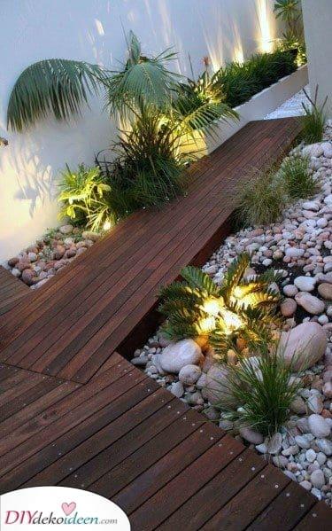 Unter den Pflanzen – Schöne Beleuchtungfür moderne Gartenbeleuchtung