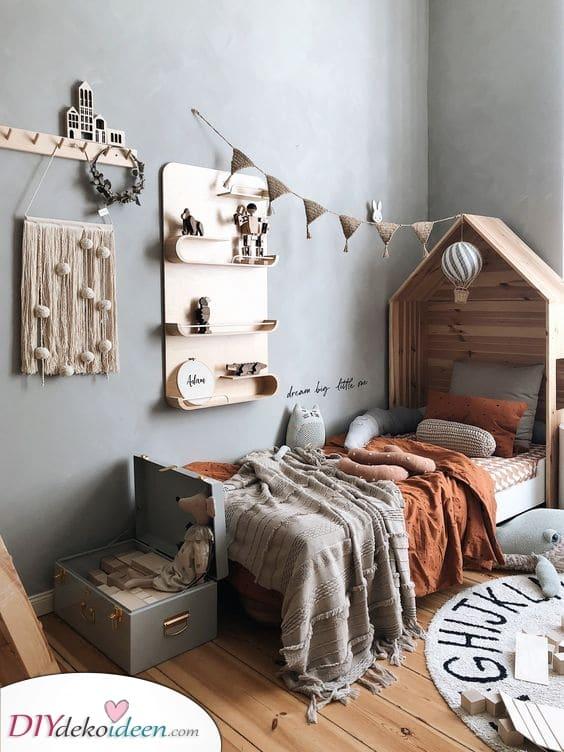Einzigartige Wandregale – Zimmer Ideen für kleine Jungs