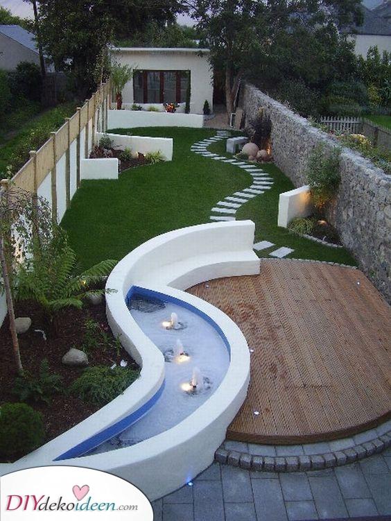 Ein einzigartiges Design – Ideen für kleine Reihenhausgärten