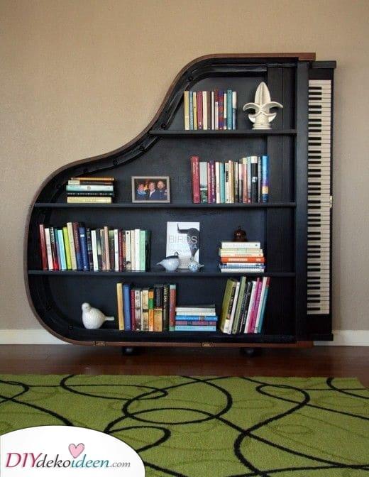Neu vorstellen und recyceln – Bücherregal Ideen für Schlafzimmer