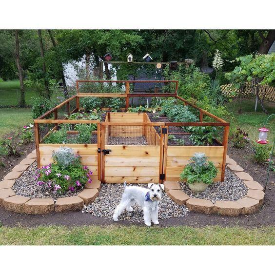 Ein mit Garten Hochbeete anlegen – Hochbeet Ideen zum Anpflanzen von Gemüse