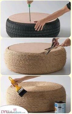 Verwandeln Sie einen Reifen – Gartenmöbel selbst bauen