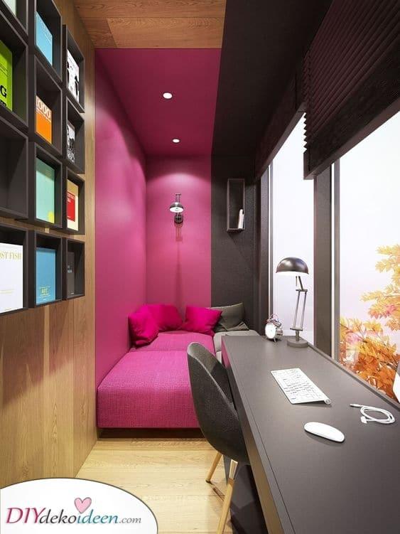 Eine Farbteilung – Kleine Schlafzimmer einrichten