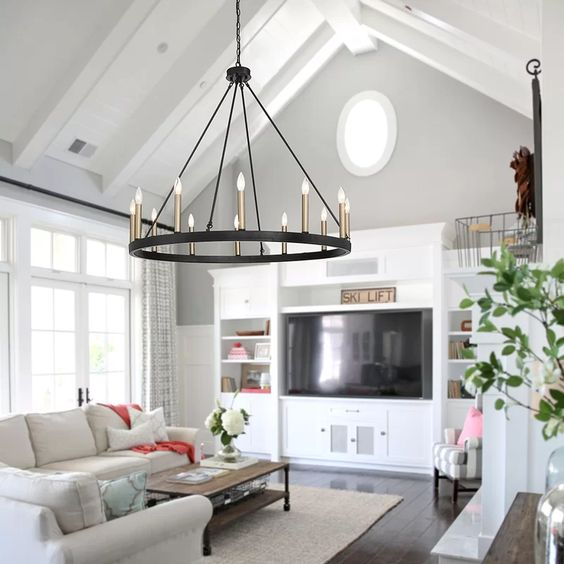 Der Wagenrad Kronleuchter – Moderne Lösungen für Ihre Wohnzimmer Beleuchtung