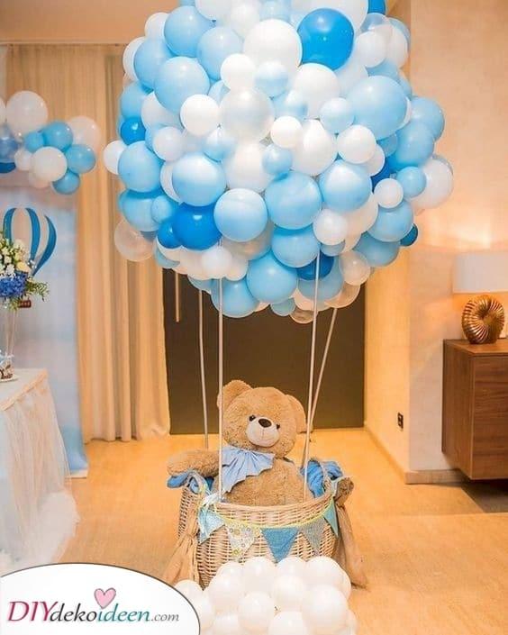 Ein Heißluftballon – Babyshower Geschenke