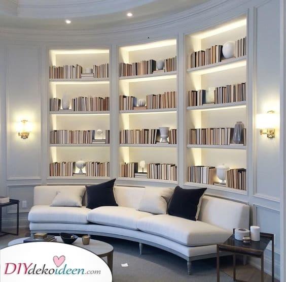 Eine Miniaturbibliothek – Eingebaute Regal Ideen