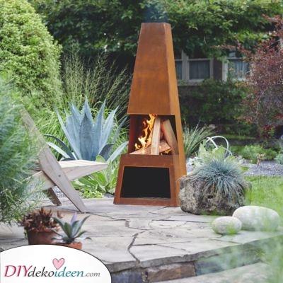 Eine Feuerschale aus Stahl – Ideen für Ihren Garten