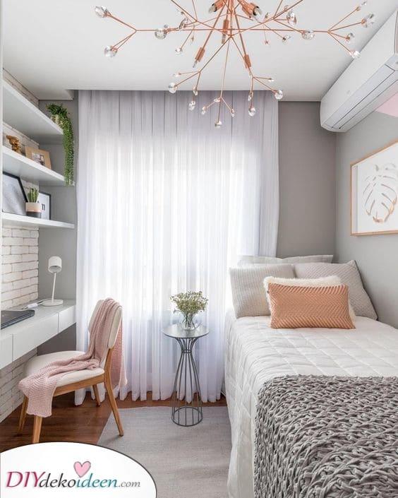 Wunderschön und trotzdem ganz einfach – Raumlösung kleines Schlafzimmer