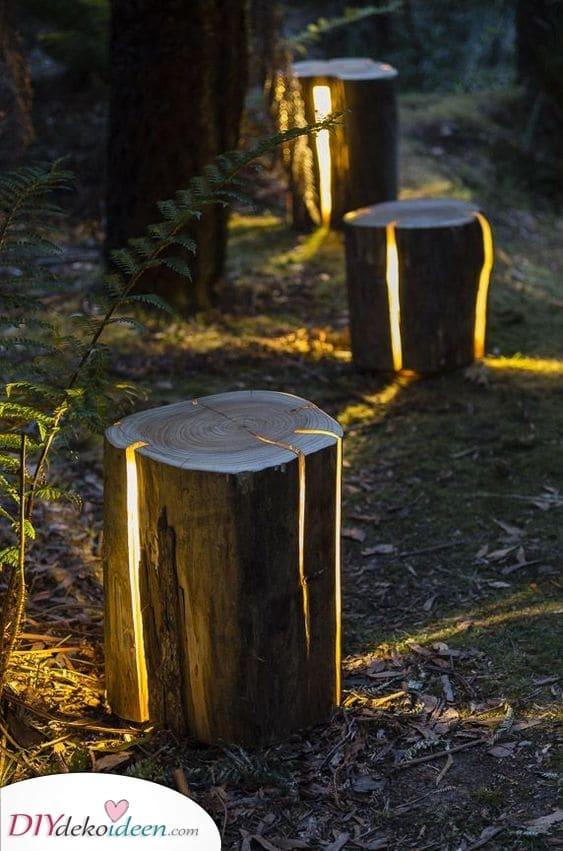 Natürlich und einzigartig – Verzauberte Außenbeleuchtung