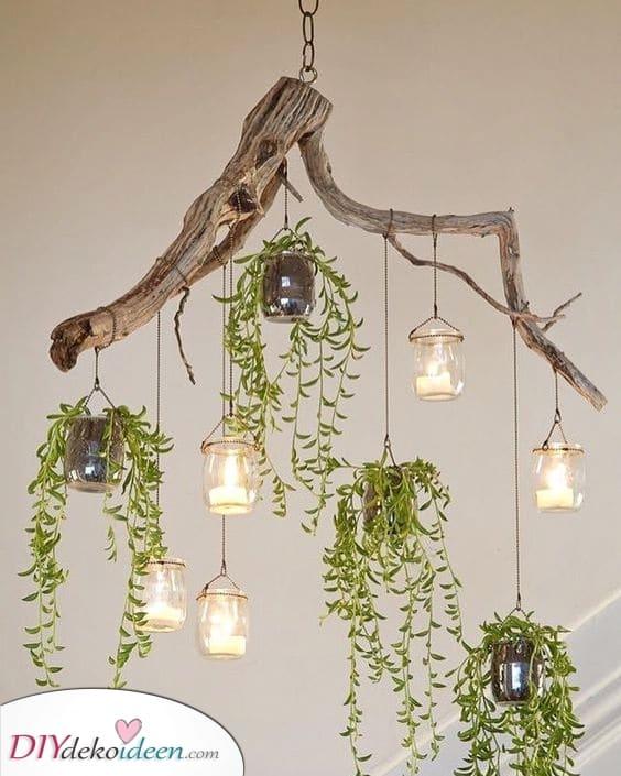 Ein Treibholz-Kronleuchter – Deine handgemachte Schlafzimmer Beleuchtung