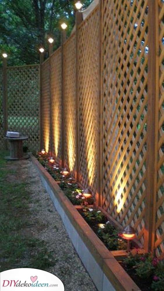 Ein Spalier und ein Zaun – Eine erstaunliche Idee