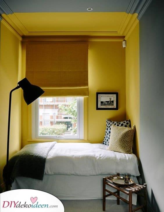 Ein bisschen Sonnenschein – Kleine Schlafzimmer einrichten