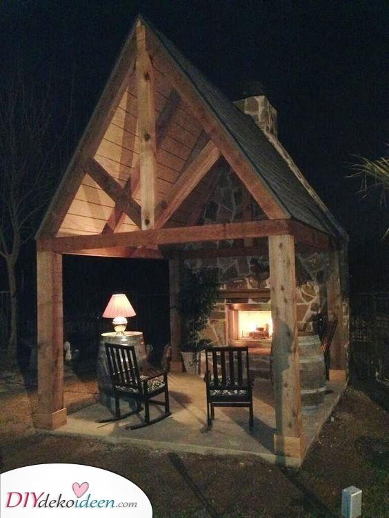 Ein Außenraum – Hinterhof-Kamin-Ideen