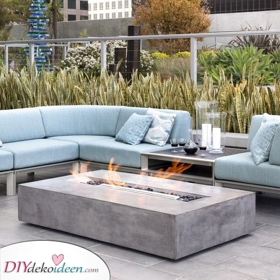Aus Beton und Modern – Feuerschale für den Garten
