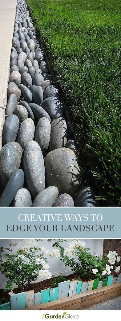 Eine Spur glatter Steine – Kreative Ideen für Gartenkanten